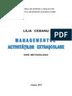 managementul activitatilor extrascolare