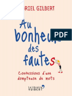 Au Bonheur Des Fautes Confessions d'Une Dompteuse de Mots - Muriel Gilbert (2017)