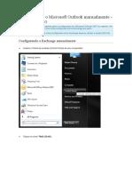 Configurando o Microsoft Outlook Manualmente