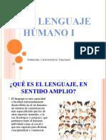 El Lenguaje Humano i