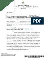 Fallo Camara Nacional de Apelaciones Del Trabajo Sala 8 Elecciones Comercio 2018