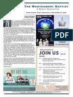 18 09 27 Montgomery Baptist Newsletter