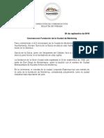 20-09-18 Conmemoran Fundación de la Ciudad de Monterrey