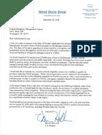 Sen. Heller letter to FEMA on FMAG South Sugarloaf Fire