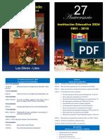 Programa por el 27 aniversario institucional
