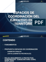 Espacios de Coordinacion Del Ejecutivo en Los Territorios