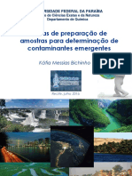 2016 Minicurso Sobre Tecnicas de Preparao de Amostras Para Determinao de Contaminantes Emergentes