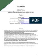 GEO Africa Paper IAC-09-B1.2.3