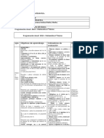 Planificacion de Matematica 4 Año Basico. (1)