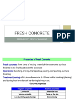 Fresh Concrete