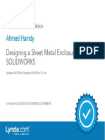 DesigningaSheetMetalEnclosurewithSOLIDWORKS_CertificateOfCompletion