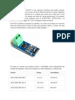 El Sensor de Corriente ACS712