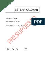 Presup Compresor Guzman