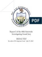 A Report of the Fortieth Statewide Investigating Grand Jury Cleland Redactions 8-12-08 Redacted