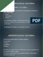 Antropologia Cultural Comunicación
