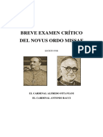 Card Ottaviani y Card Bacci Breve Examen Crc3adtico Del Novus Ordo Missae