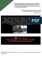 La evaluación psicopedagógica -contextual y plan de intervención en el marco inclusivo. 9 esquemas básicos para elaborar la EPPyC  PI
