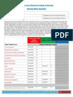 hennigan skills checklist pdf