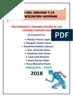 Tratamiento y Rehabilitación de Las Lesiones Deportivas