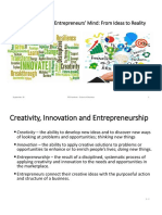 Lecture 2 Inside the Entrepreneurs' Mind-From Ideas to Reality
