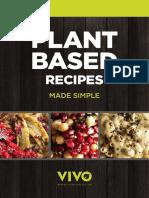 Recetas a base de plantas