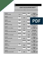 ESR Load Calculation Sheet 2011