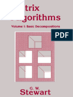 Matrix-Algorithms - Vol I Basic Decompositions
