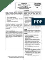 Política y Programa Corporativo de ES&H