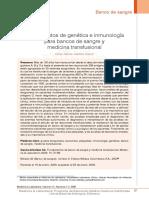Inmunología y Banco de Sangre