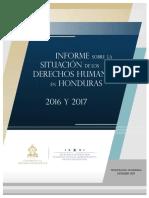 Informe Derechos Humanos en Honduras 2016-2017