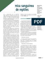 Bioquimia Sanguinea en Reptiles