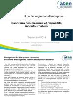 2014 09 22 Mdee - Panorama Des Mesures Et Dispositifs Incontournables