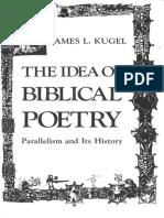 The Idea of Biblical Poetry - J. Kugel