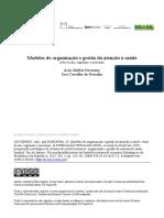 Modelos de Organização e Gestão Da Atenção à Saúde