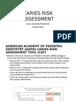 Caries Risk Assessment (Pediatric)
