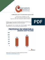 Conflictividad Social en Venezuela Agosto 2018