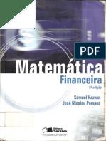 Livro Matematica Financeira 6ª Edição - Samuel Hazzan - José Pompeo