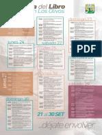 Agenda de la Cuarta Feria del Libro de Los Olivos