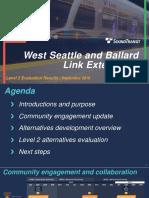 West Seattle Ballard Stakeholder Advisory Group Meeting Presentation - September 5, 2018