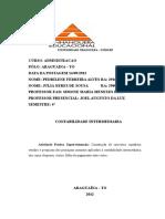Atividade Pratica de Contabilidade Intermediaria