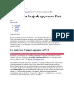 Inicio Cultura Lugares Curiosos La Misteriosa Franja de Agujeros en Perú