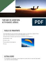 Turismo de Aventura, actividades aéreas