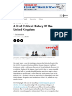 A brief political history of UK