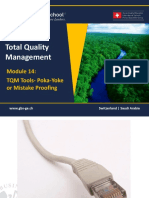 1465651198 TQM - 601 Module 14- Quality Tools Mistake Proofing