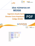 Anexo 1. Suma de Dos Numeros en MSX88 Version Anterior