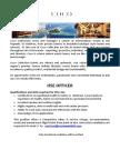 Job Advert - HSE Officer - 21.09.2018