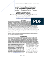 Ellis, TJ, Levy, Y. Framework of problem-based research A guide for novice researchers on the development of a research-worthy problem. Informing Science Journal 2008;11(17–33).pdf