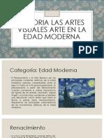 Historia Las Artes Visuales Arte en La Edad