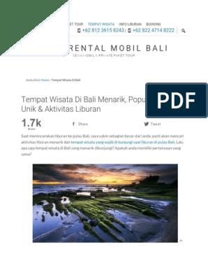 Wira Rental Mobil Bali Home Sewa Mobil Paket Tour Info