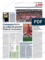 La Provincia Di Cremona 21-09-2018 - Cremonese